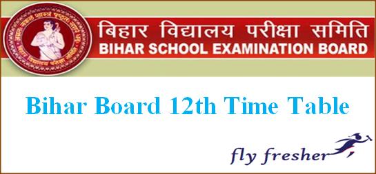 Bihar Board 12th Time Table, BSEB Intermediate Date Sheet, Bihar Board 12th Exam Routine