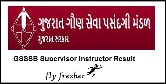 GSSSB-Supervisor-Instructor-Results