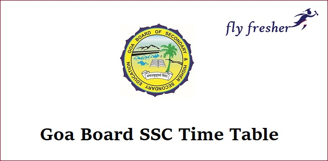 Goa-Board-SSC-Time-Table