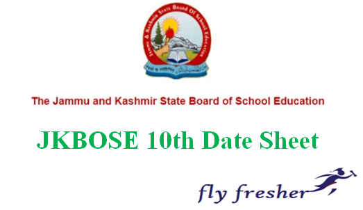 JKBOSE Date Sheet, Jammu and Kashmir Board 10th Time Table, JKBOSE Time Table, JKBOSE 10th Time Table