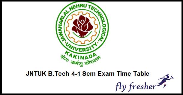 JNTUK-4-1-Sem-Exam-Time-Table
