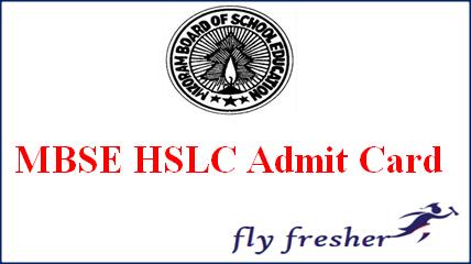 MBSE HSLC Admit Card, Mizoram Board 10th Class Hall Ticket, MBSE 10th admit card, Mizoram Board HSLC hall ticket