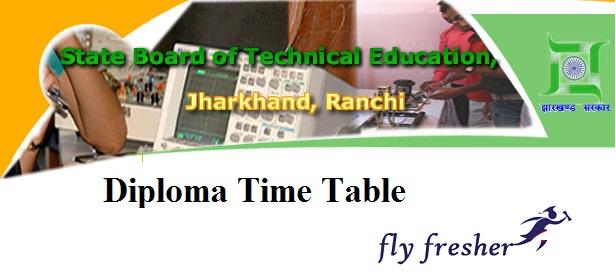 SBTE-Jharkhand-Diploma-Time-Table-2019