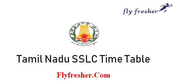 tamil nadu sslc time table, TN class 10 date sheet